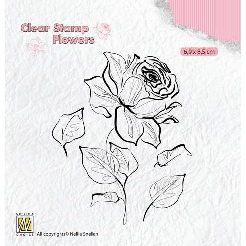 Clear Stamp Flower Rose