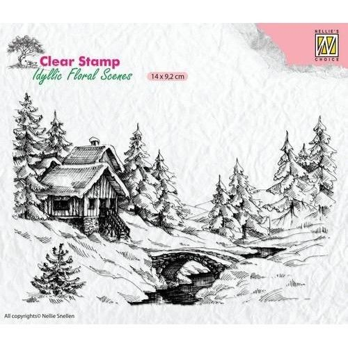 Clear Stamp Idyllic Floral winter Scene