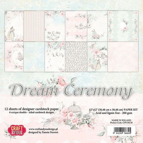 12 sheets 30,48x30,48 cm Dream Ceremony