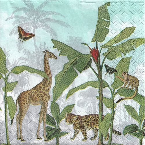 4 Paper Napkins Fantastic Wild World