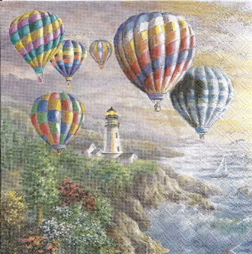 4 Paper Napkins Hot Air Balloons