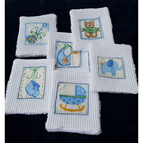 Reusable Washable Wipes Baby x6