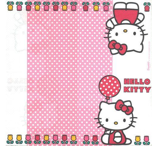 2 Serviettes papier Hello Kitty