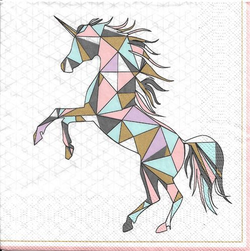 2 Paper Napkins Graphic Wild Unicorn
