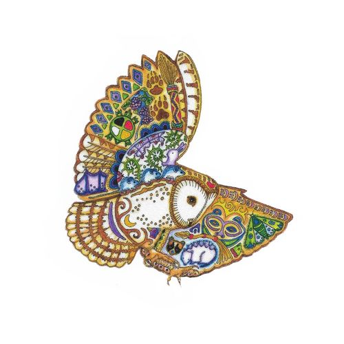 Iron-on patch Owl