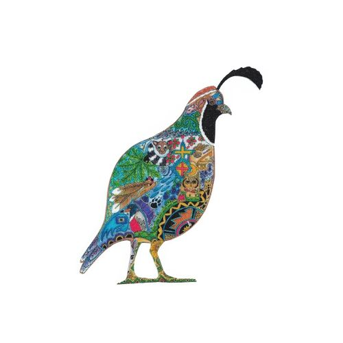 Iron-on patch California Quail