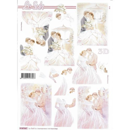 3D Decoupage Sheet Wedding