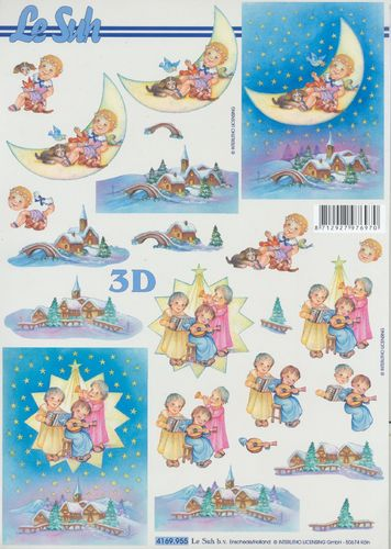 3D Decoupage Sheet Moon Star