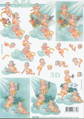3D Decoupage Sheet Little Angels