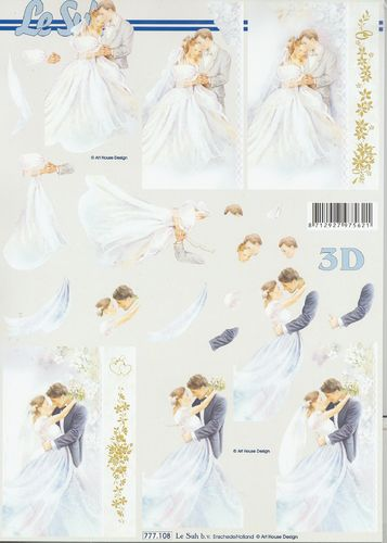 3D Decoupage Sheet Weddings