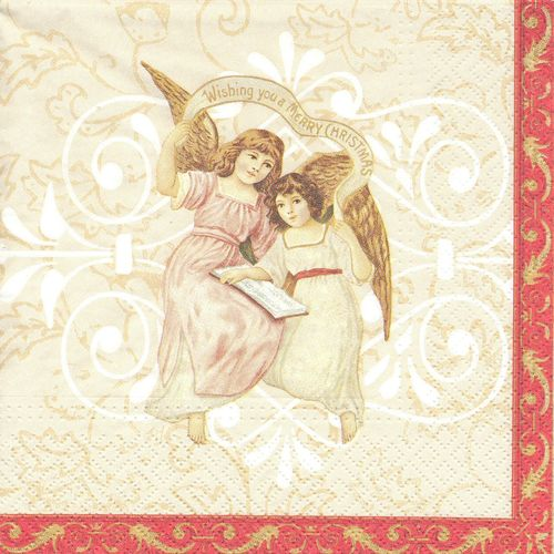 4 Paper Napkins Christmas Angels